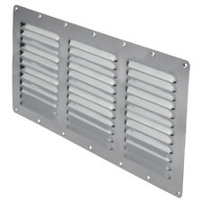 2 X Stainless Steel Rectangular Louvre Air Vent Caravan Boat Wall Eave