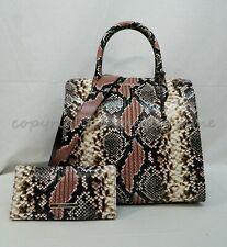 Brahmin Tea Rose Evita Textured Leather Caroline Satchel Bag Purse