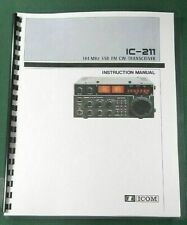 ICOM IC-211 Instruction Manual - Premium Card Stock Covers & 28 LB Paper!