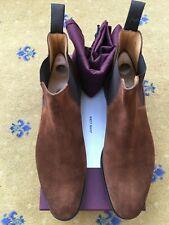New John Lobb Mens Brown Suede Chelsea boots Shoes UK 10 US 11 EU 44 Lawry