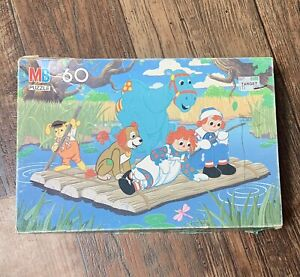 """Vintage 1989 Raggedy Ann & Andy Puzzle Complete 11x16"""""""