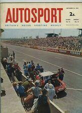 AUTOSPORT 24th SETTEMBRE 1965 * oulton Park Gold Cup & Downton MINI COOPER S MK 1 *