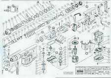 Hilti Explosionszeichnung zur Hammerbohrmaschine TE54 (04.02.1992)