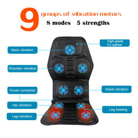 Full Back Massage Cushion Car Chair Seat Home Shiatsu Massager Neck Heat ·