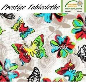 Butterflies PVC Vinyl Wipe Clean Tablecloth - ALL SIZES - Code: F943-1