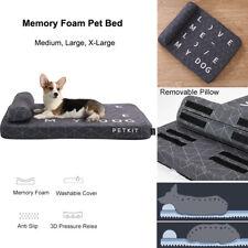 New listing Petkit Memory Foam Dog Bed Pet Cat Sleep Flat Sofa Mattress Cushion With Pillow