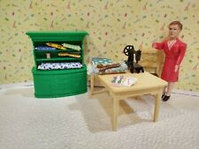 Renwal MOTHER DOLL w/ SEWING MACHINE Vintage Miniature Dollhouse Furniture