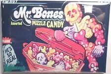"Mr. Bones Puzzle Vintage Candy Box 2""x3"" Fridge or Locker MAGNET Wrapper"