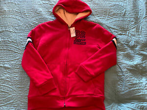 The Childrens Place Est. 1989 Faux Sherpa Lined Hooded Varsity Jacket - XL (14)
