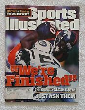 """Sports Illustrated October 11, 1999; """"We're Finished"""" Broncos Season Over -RARE!"""