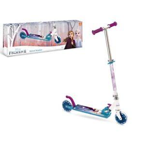 Monopattino Frozen per bimba con 2 ruote e freno, 2+