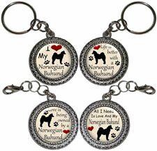 Norwegian Buhund Dog Key Ring Key Chain Purse Charm Zipper Pull Handmade