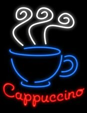 "New Cappuccino Coffee Cafe Open Beer Man Cave Neon Light Sign 32""x24"""