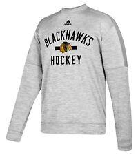 "Chicago Blackhawks Adidas NHL Men's ""Archer"" Crewneck Fleece Sweatshirt"