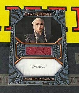 Game of Thrones Iron Anniversary QC2 Daenerys Targaryen Quote Relic Card