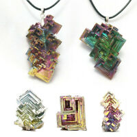 New Natural Titanium Bismuth Rare Rainbow Metal Crystal Mineral Gemstone Decor