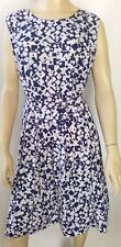 VINTAGE ladies size 16 dress blue and white