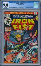 MARVEL PREMIERE #15 - CGC 9.0 OW Pages VF/NM First IRON FIST