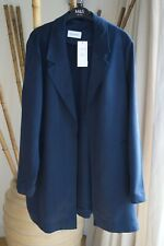 MARKS AND SPENCER NAVY Cardigan Relaxed COAT / JACKET SIZE 20 NEW £59