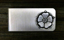 Tudor Rose Money Clip - English Rose Handcrafted Fine Pewter Made in USA