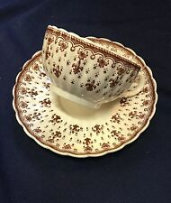 Spode Fleur de Lis Brown CUP SAUCERS - sold individually