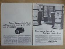7/1967 PUB NORTHROP GYROSCOPE TEST GYROSCOP ORIGINAL FRENCH AD