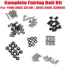 Fairing Bolt Kit Body Screws Set For Kawasaki ZX-6R 1998-2002 / ZZR600 2003-2008