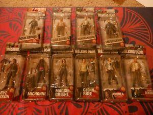 Mcfarlane Walking Dead AMC Action Figure Lot of 10 Rick Daryl Glenn Carl andmore