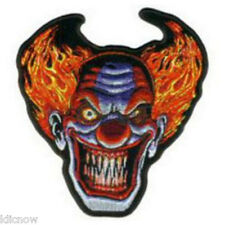 "ANGRY CLOWN EMBROIDERED PATCH 12 X 13CM (5"" X 5"")"