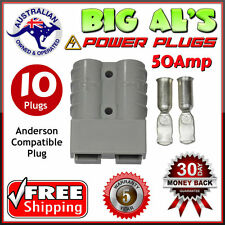 10 X 50Amp DC Power Connector Anderson Style Plug 12v 24v Fridge Charger Battery
