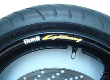 BUELL LIGHTNING WHEEL RIM STICKERS -MANY COLORS cyclone