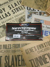 """New!  Acid Free Newspaper Sleeves Archival Bags 13""""x11 7/8"""" 10ct  Free Shipping!"""