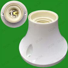 Edison Screw White Batten Ceiling Lamp Holder, ES E27 Light Bulb Socket Fixing