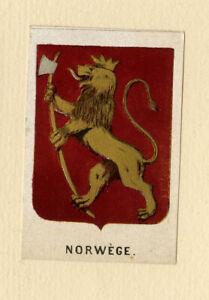 Antique Print-HERALDRY-COAT OF ARMS-NORWAY-Anonymous-Ca. 1865