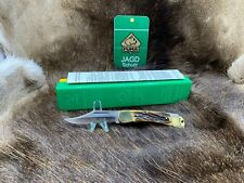 1977 Vintage Puma 21 0905 Duke Stag Handle Knife - Mint In Green / Yellow Box A1