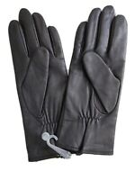 Fownes  Women 100%Cashmere Lined Leather Gloves size M color Black