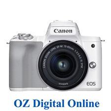 NEW Canon EOS M50 MK II (15-45 STM) White 1 Year Au Warranty