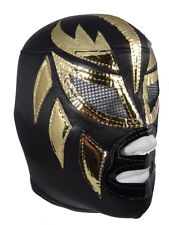 ORO (pro-fit) Adult Lucha Libre Halloween Costume Mask - Black/Gold