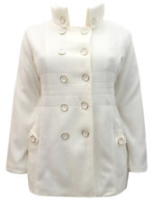 Double Breasted Jacket Fleece Coat Winter White Collar Soft / Warm 18/20 BNWT