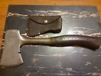 VINTAGE CRAFTSMAN WOOD CHOPPING AXE AX HATCHET & LEATHER BELT LOOP HEAD COVER