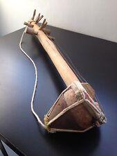 Handcrafted Wooden Banjo Musical Intrument Woodwork Display Ornament Folk Art