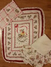 "Baby Bedding Crib Set Quilt 36""×46"" Bed Skirt Bunny Train Clown 3 Piece Set"