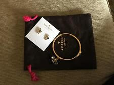 Kate Spade Queen Bee Bangle Bracelet & Earring Set Down the Rabbit Hole NWT