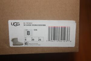New In Box UGG Women Classic Double Bow Mini Boots GOA Grey SHIP FREE US FAST
