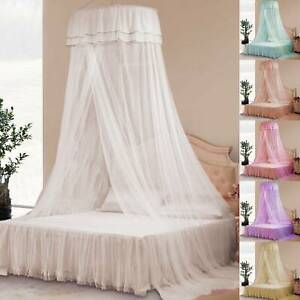 Lace Bed Mosquito Netting Mesh Canopy Princess Round Dome Bedding Net Curtain