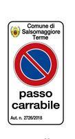 """Cartello """"Passo Carrabile"""" 25x45 cm personalizzabile con stemma comune e numero"""