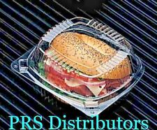 Plastic Clear hinged take-out Carry-Out Containers PACTIV YCI8-1160 50 Pieccs