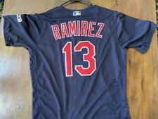 2019 Jose Ramirez Indians Game Used Team Issued Baseball Jersey - MLB Cert