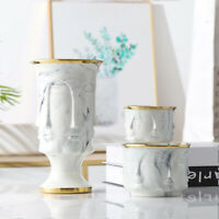 Marbling Flower Pot Ceramic Planter Pots with Hole Garden Home decoration Vase