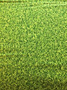 RPRK46A Green Artificial Turf Lawn Grass Sports Field Cotton Quilt Fabric